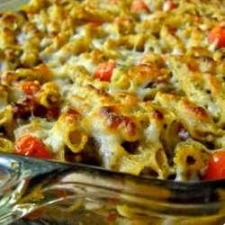 Bacon-Pesto-Pasta-Bake