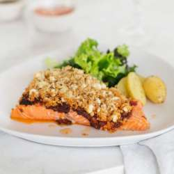Baked-fish-with-pesto-and-feta-crust