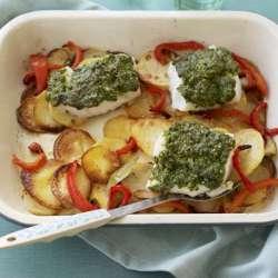 Fish-and-potato-traybake-with-pesto