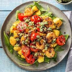 Garlic-Prawns-with-Mini-Roast-Potatoes-and-Walnut-Parsley-Pesto