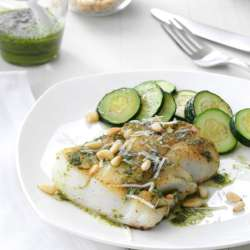 Pesto-Fish-with-Pine-Nuts