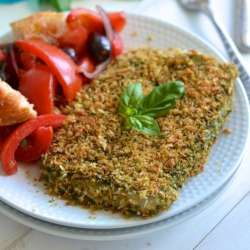 Pesto-Panko-Crusted-Fish