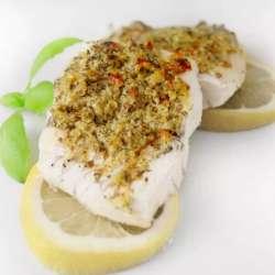 Pesto-and-Walnut-Crusted-Cod