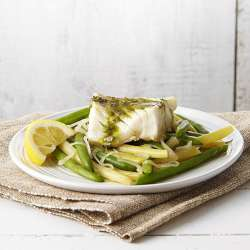 Poached-Cod-&-Green-Beans-with-Pesto
