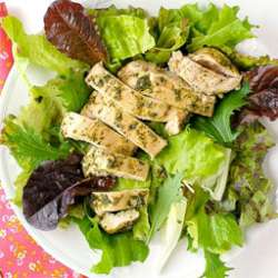 TARRAGON-PESTO-CHICKEN-BREASTS-WITH-DRESSED-GREENS