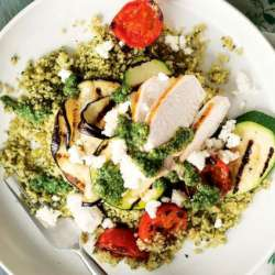 Walnut-pesto-and-chicken-couscous