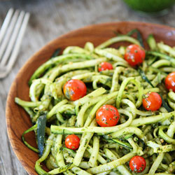 Zucchini-Noodles-and-Pesto