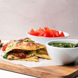 Pesto,-Sundried-Tomato-&-Mozzarella-Crepe
