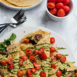 Savory-Pesto-Mushroom-Crepe-Recipe