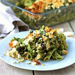 Comforting-Kale-Pesto-Pasta-Casserole