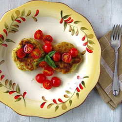 Pesto-Potato-Cakes-With-Tomatoes