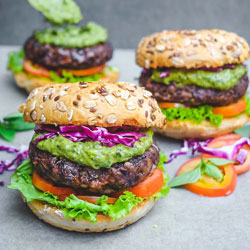 Black-Bean-Burgers-with-Avocado-Pesto