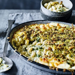Macaroni-Cheese-with-Spinach-and-Pesto-Pangrattato