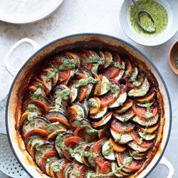Ratatouille-Swirl-with-Garlic-Passata-Base-and-Green-Pesto-drizzle