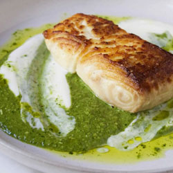 Seared-Halibut-With-Nettle-Pesto