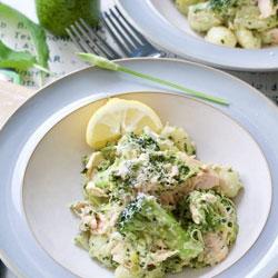 Wild-Garlic-Pesto-Baked-Salmon-with-Gnocchi